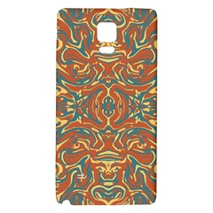 Multicolored Abstract Ornate Pattern Galaxy Note 4 Back Case
