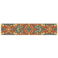 Multicolored Abstract Ornate Pattern Small Flano Scarf