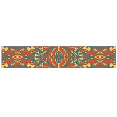Multicolored Abstract Ornate Pattern Large Flano Scarf