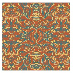 Multicolored Abstract Ornate Pattern Large Satin Scarf (square)