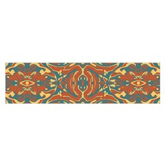 Multicolored Abstract Ornate Pattern Satin Scarf (oblong)