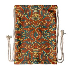 Multicolored Abstract Ornate Pattern Drawstring Bag (large)