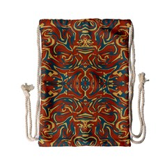 Multicolored Abstract Ornate Pattern Drawstring Bag (small)