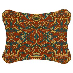 Multicolored Abstract Ornate Pattern Jigsaw Puzzle Photo Stand (bow)