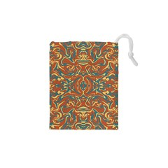 Multicolored Abstract Ornate Pattern Drawstring Pouches (xs)