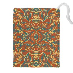 Multicolored Abstract Ornate Pattern Drawstring Pouches (xxl)