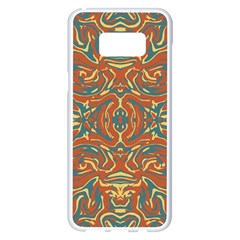 Multicolored Abstract Ornate Pattern Samsung Galaxy S8 Plus White Seamless Case
