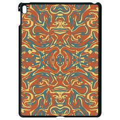 Multicolored Abstract Ornate Pattern Apple Ipad Pro 9 7   Black Seamless Case