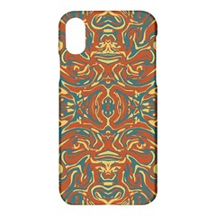 Multicolored Abstract Ornate Pattern Apple Iphone X Hardshell Case