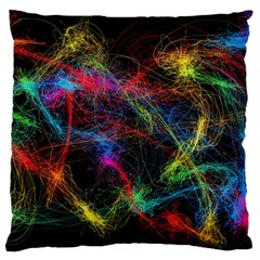 Background Light Glow Abstract Art Large Cushion Case (two Sides)