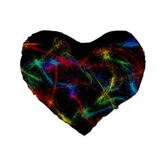 Background Light Glow Abstract Art Standard 16  Premium Heart Shape Cushions