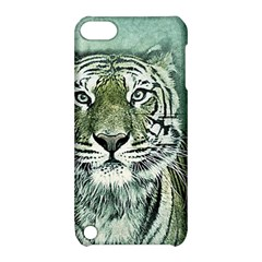 Tiger Cat Art Abstract Vintage Apple Ipod Touch 5 Hardshell Case With Stand