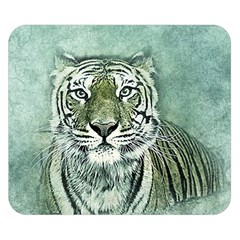Tiger Cat Art Abstract Vintage Double Sided Flano Blanket (small)