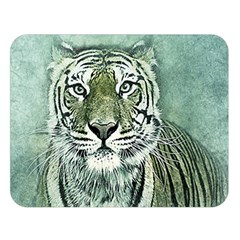 Tiger Cat Art Abstract Vintage Double Sided Flano Blanket (large)