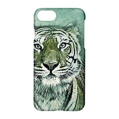 Tiger Cat Art Abstract Vintage Apple Iphone 8 Hardshell Case
