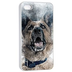 Dog Pet Art Abstract Vintage Apple Iphone 4/4s Seamless Case (white)