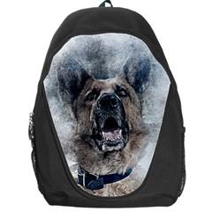 Dog Pet Art Abstract Vintage Backpack Bag