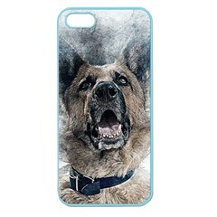 Dog Pet Art Abstract Vintage Apple Seamless Iphone 5 Case (color)
