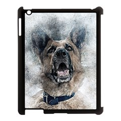 Dog Pet Art Abstract Vintage Apple Ipad 3/4 Case (black)