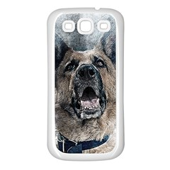 Dog Pet Art Abstract Vintage Samsung Galaxy S3 Back Case (white)