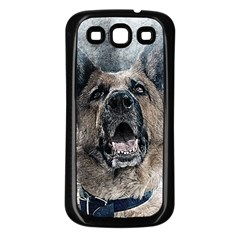 Dog Pet Art Abstract Vintage Samsung Galaxy S3 Back Case (black)