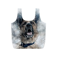 Dog Pet Art Abstract Vintage Full Print Recycle Bags (s)