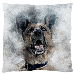 Dog Pet Art Abstract Vintage Standard Flano Cushion Case (one Side)