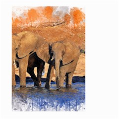 Elephants Animal Art Abstract Large Garden Flag (two Sides)