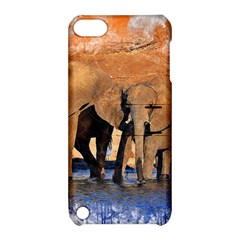 Elephants Animal Art Abstract Apple Ipod Touch 5 Hardshell Case With Stand