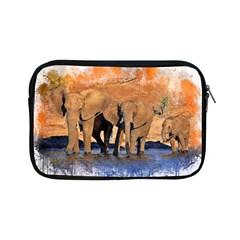 Elephants Animal Art Abstract Apple Ipad Mini Zipper Cases