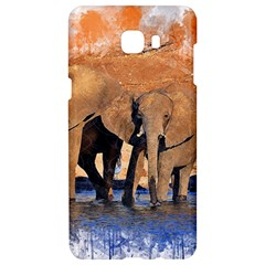 Elephants Animal Art Abstract Samsung C9 Pro Hardshell Case