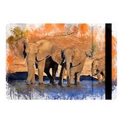 Elephants Animal Art Abstract Apple Ipad Pro 10 5   Flip Case