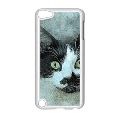 Cat Pet Art Abstract Vintage Apple Ipod Touch 5 Case (white)
