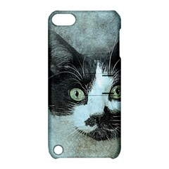 Cat Pet Art Abstract Vintage Apple Ipod Touch 5 Hardshell Case With Stand