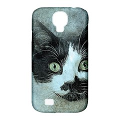 Cat Pet Art Abstract Vintage Samsung Galaxy S4 Classic Hardshell Case (pc+silicone)