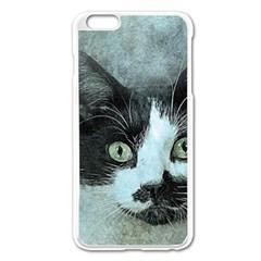 Cat Pet Art Abstract Vintage Apple Iphone 6 Plus/6s Plus Enamel White Case