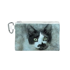 Cat Pet Art Abstract Vintage Canvas Cosmetic Bag (s)