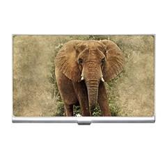 Elephant Animal Art Abstract Business Card Holders