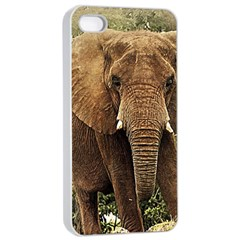 Elephant Animal Art Abstract Apple Iphone 4/4s Seamless Case (white)