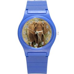 Elephant Animal Art Abstract Round Plastic Sport Watch (s)