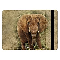 Elephant Animal Art Abstract Samsung Galaxy Tab Pro 12 2  Flip Case