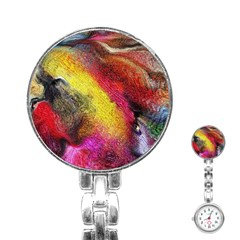 Background Art Abstract Watercolor Stainless Steel Nurses Watch