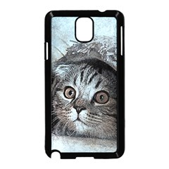 Cat Pet Art Abstract Vintage Samsung Galaxy Note 3 Neo Hardshell Case (black)