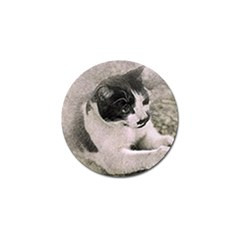 Cat Pet Art Abstract Vintage Golf Ball Marker (10 Pack)