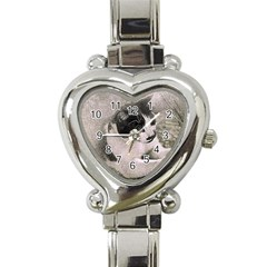 Cat Pet Art Abstract Vintage Heart Italian Charm Watch