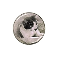 Cat Pet Art Abstract Vintage Hat Clip Ball Marker (4 Pack)