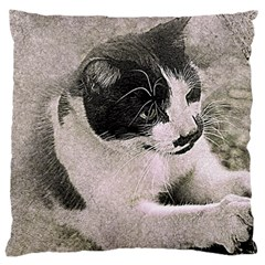 Cat Pet Art Abstract Vintage Large Cushion Case (one Side)