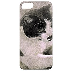 Cat Pet Art Abstract Vintage Apple Iphone 5 Classic Hardshell Case