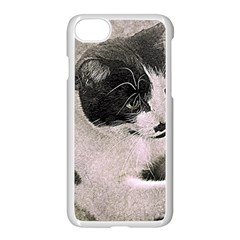 Cat Pet Art Abstract Vintage Apple Iphone 7 Seamless Case (white)
