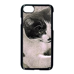 Cat Pet Art Abstract Vintage Apple Iphone 8 Seamless Case (black)